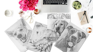 Adult Coloring Pages - Set of Coloring Sheets with Grayscale Dogs, Set #19, , ArtistrybyLisaMarie