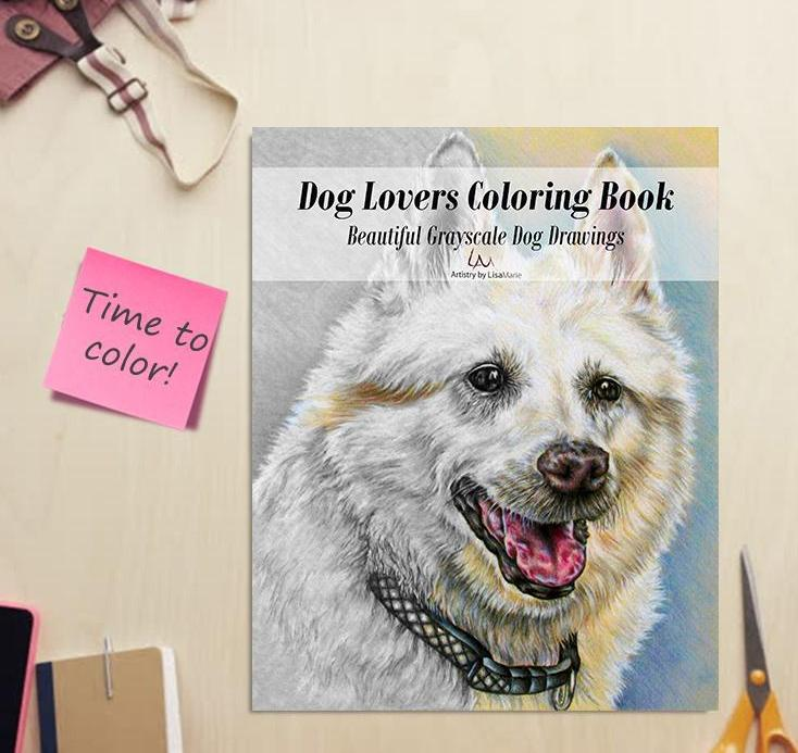 Adult Coloring Book - Dog Lovers Coloring Books: Beautiful Grayscale Dogs