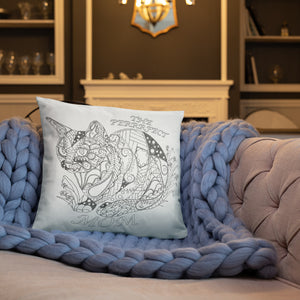 COLORING THROW PILLOW: PERFECT MOM, CAT, , ArtistrybyLisaMarie