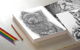 Printable Coloring Page: Small Black Dog in Grayscale, , ArtistrybyLisaMarie