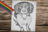 Adult Coloring Pages - Set of Coloring Sheets with Grayscale Dogs, Set #3, , ArtistrybyLisaMarie