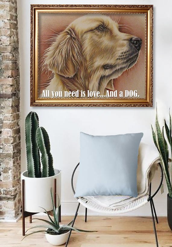 Fine Art Print: Golden Retriever Portrait, , ArtistrybyLisaMarie