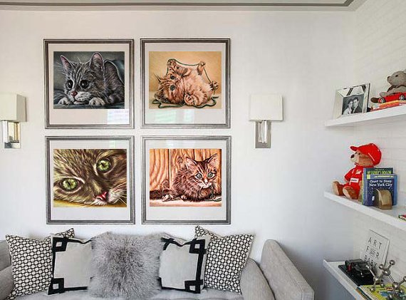 Fine Art Print Set: Drawing of Kittens, , ArtistrybyLisaMarie