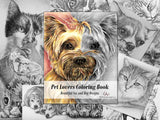 Adult Coloring Book - Pet Lovers Coloring Book: Beautiful Grayscale Dogs and Cats, , ArtistrybyLisaMarie