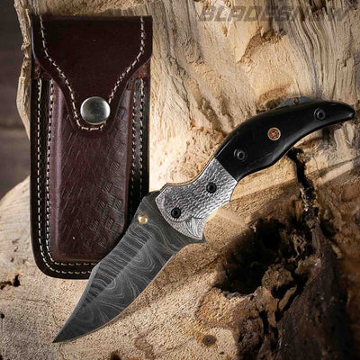 black handle and sharp blade knife