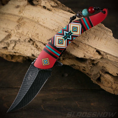 amazing Native American spring assisted Knife