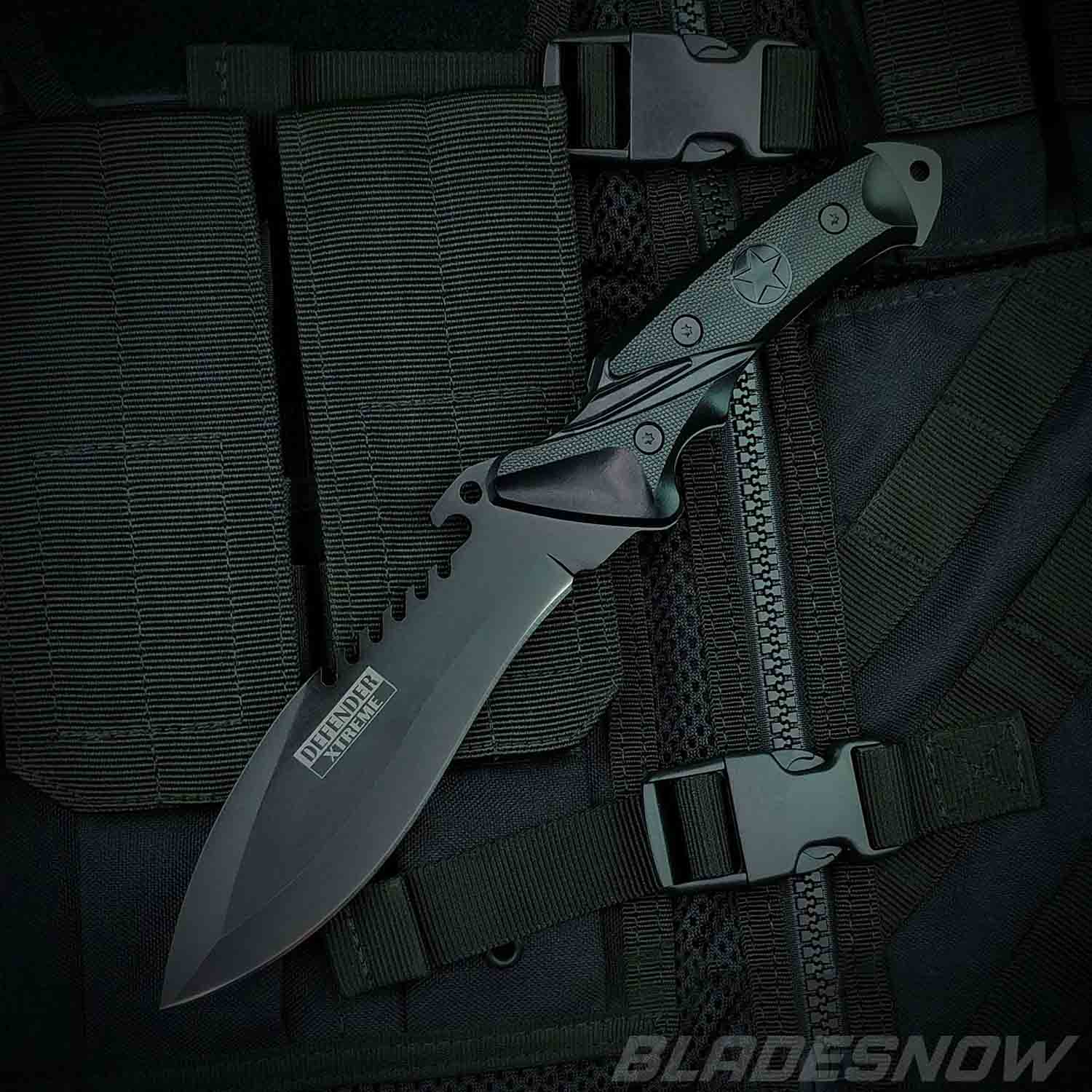 Fixed Blade Tactical Survival Combat Knife with Sheath
