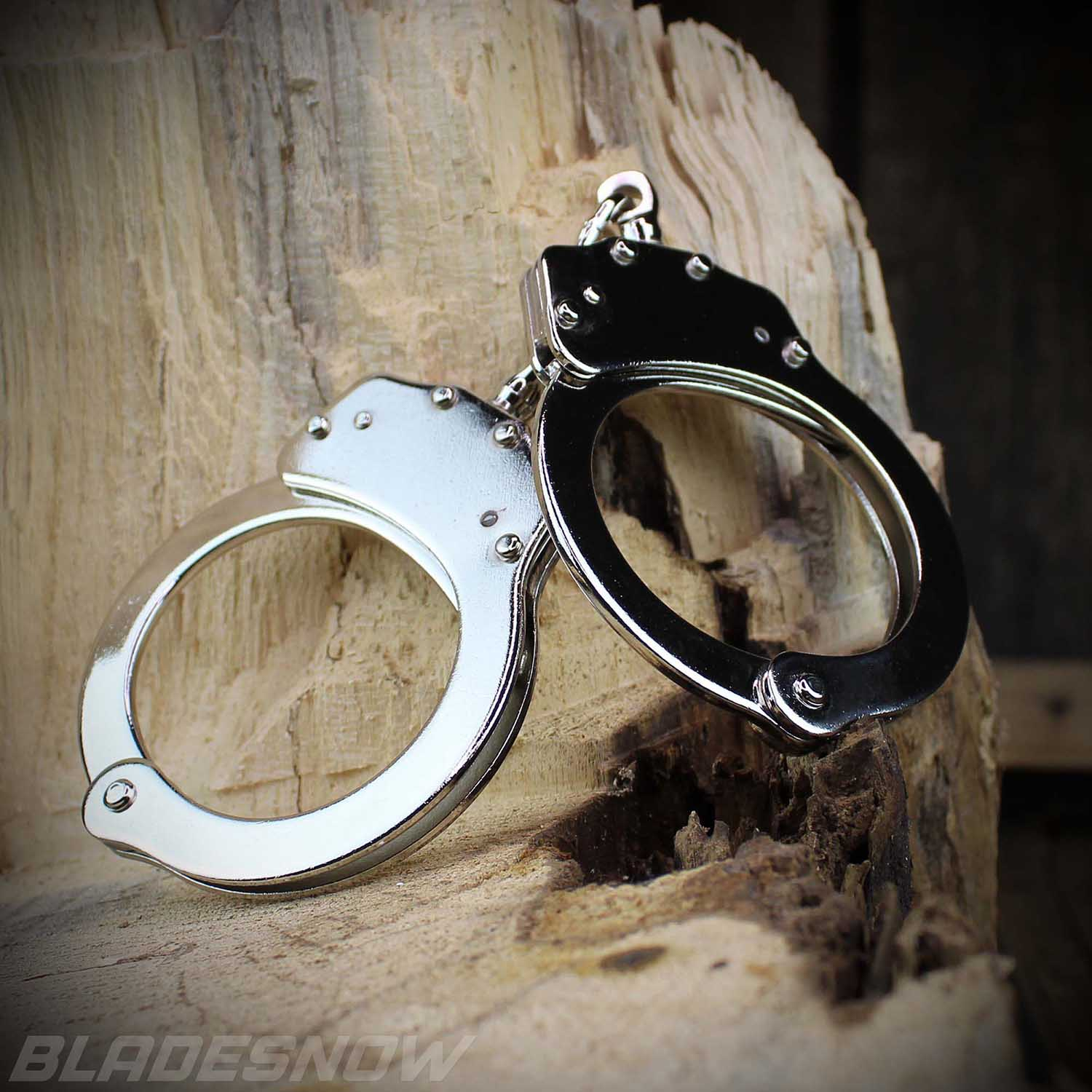 Police Handcuffs Nickel Plated Double Locking