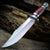 Bowie Hunting Knife Cherry Wood | Fixed Blade Knife