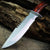 Tactical Fixed Blade Bowie Knife with Brown Wood Handle