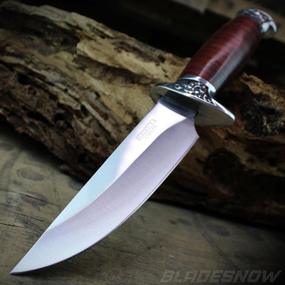 Cherry Wood Bowie Hunting Knife