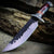Dark Wood Hunting Bowie Fixed Blade Knife
