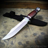 Cherry Wood Fixed Blade Bowie Knife