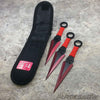 3pc crimson knife set with nylon sheath