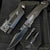 Matte Black EDC Multitool LED Spring Assisted Knife set