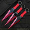 3 PC Crimson Red | Throwing Knives Set with Nylon Sheath