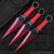 3PC Crimson Red Throwing Knife Set With Nylon Sheath
