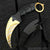 Gold Tiger Karambit Neck Knife
