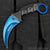 Blue Aura Tactical Hunting Karambit Neck Knife