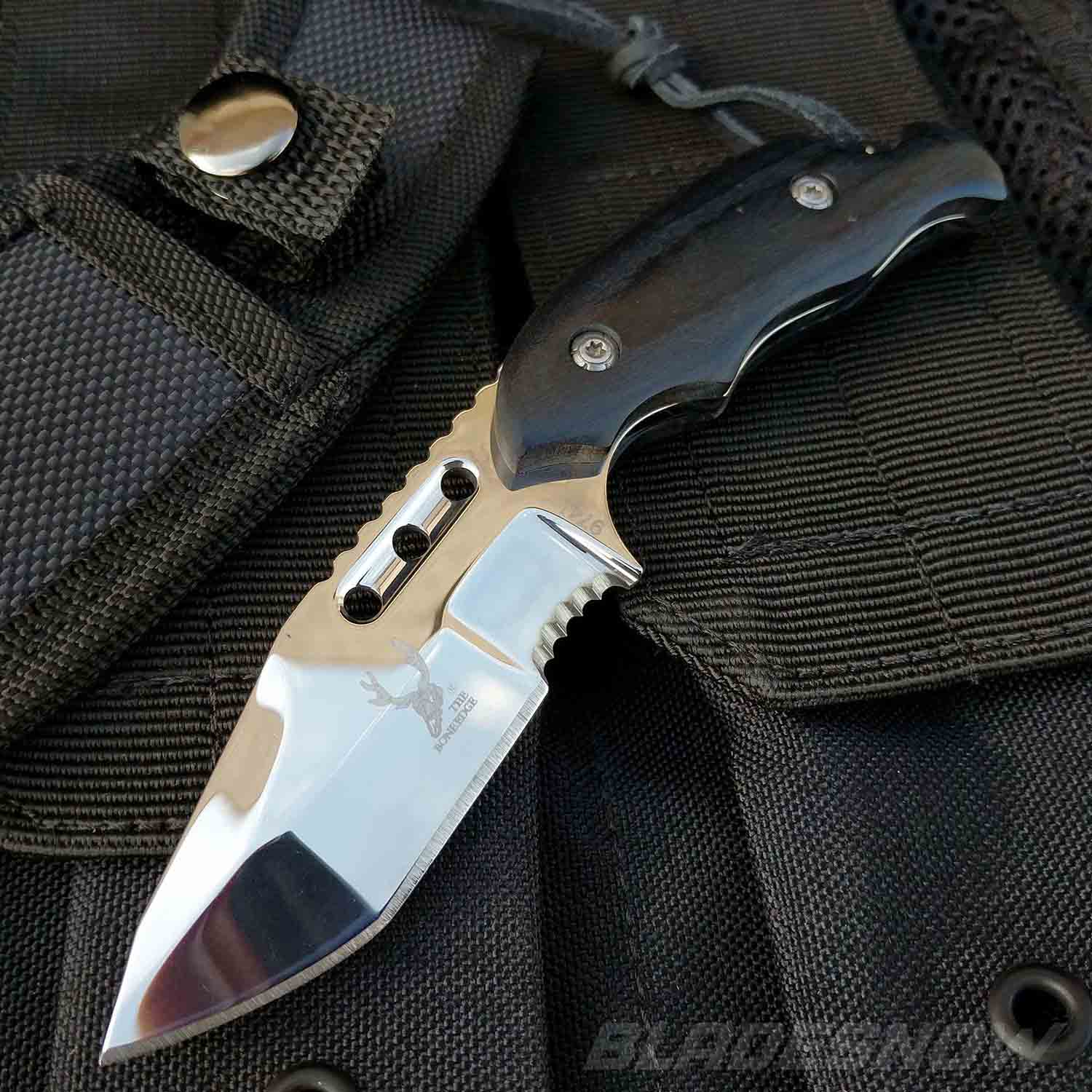 Bone Edge Tactical Survival Fixed Blade Hunting Knife