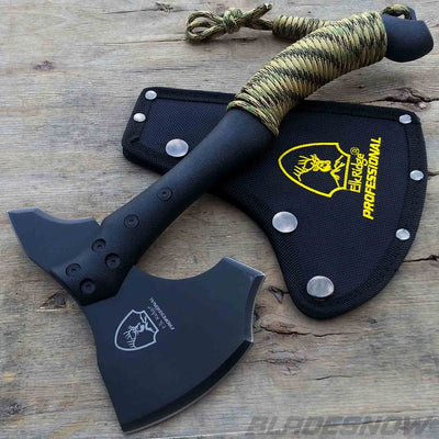 Tactical Hunting Tomahawk Black | Throwing Battle Axe