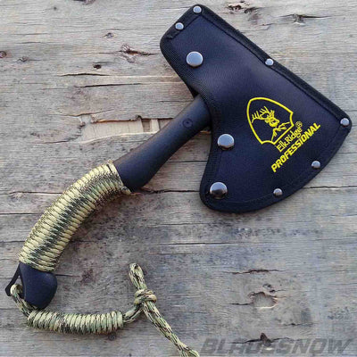 Tactical camo coated axe with nylon sheath