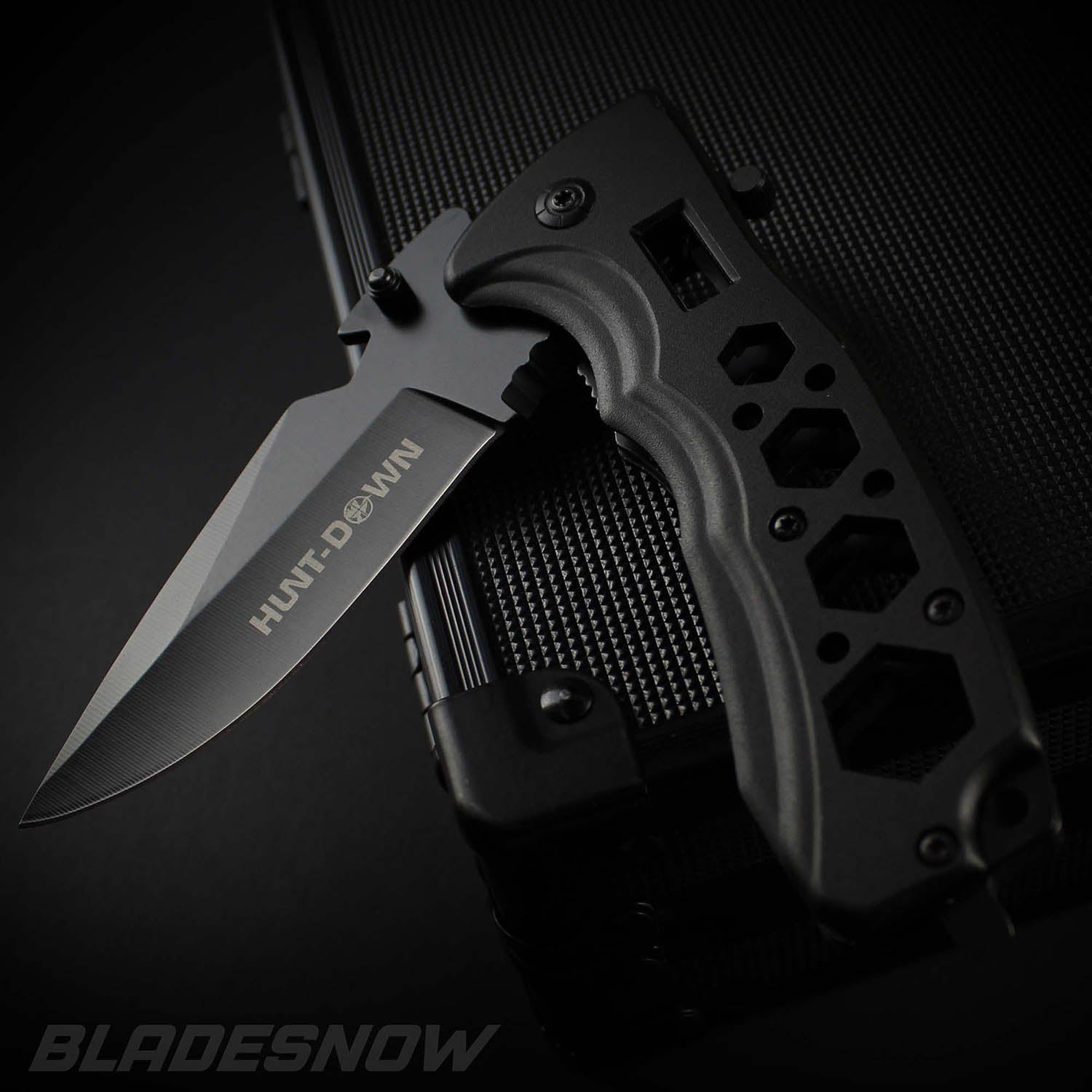 Multi Tool Spring Assisted EDC Pocket Knife Black
