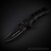 EDC black stainless steel blade assited knife