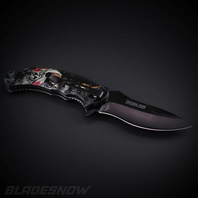 3d design spring assisted pocket knife