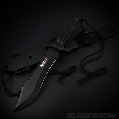 Tactical fixed blade Knife Black