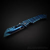Ripple Blue Cleaver Tanto fast opening Pocket Knife