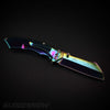 Pocket Cleaver Spring Assisted Knife Aura Pearl