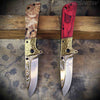 Western Cowboy Brass Spring Assisted Folders 2pc