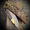 Cowboy Spring Assisted Folding Knife Western Ornate handle