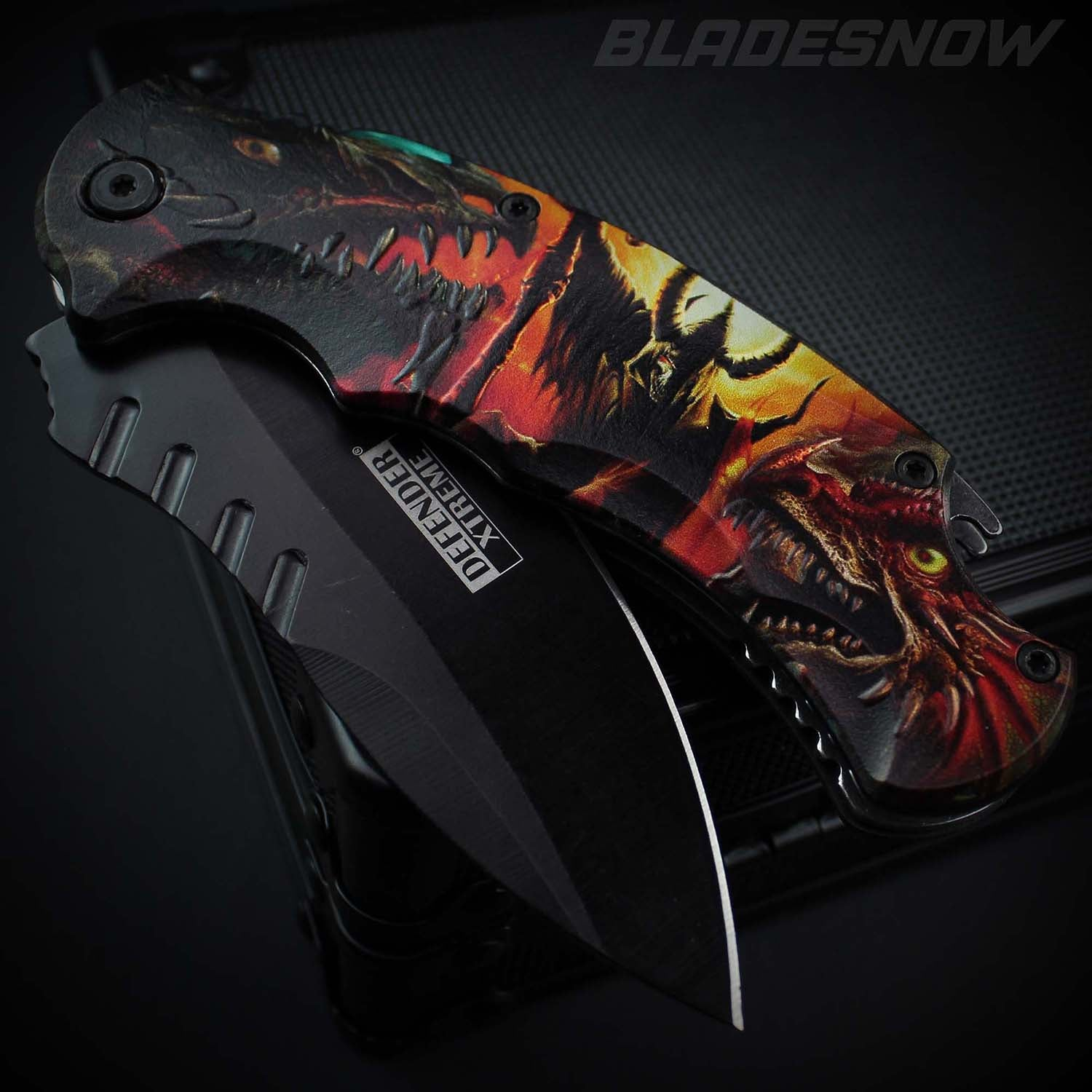 Underworld 3D Art Dragons & Demons Spring Assisted Pocket Knife