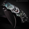 Dark clown skull knife - Spring assisted pocket knife
