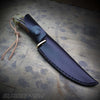 Faux Stag & Damascus Fixed Blade Hunting Knife