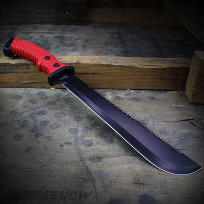 red handle Hunting Machete Military Fixed Blade