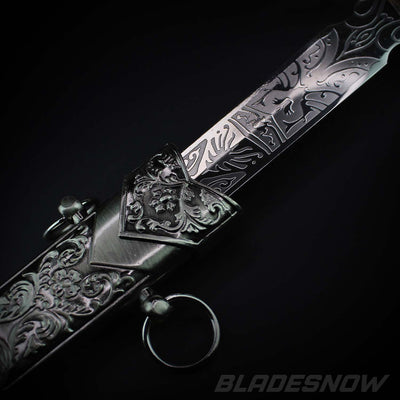 Gothic Fixed Blade Knife handle