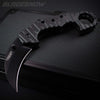 Composite Black Karambit Tactical Spring Assisted Pocket Knife