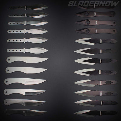 24pc Throwing knives | Assorted black throwing knife
