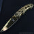 Gold Titanium Ornate Spring Assisted Pocket Knife