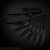 15pc Tactical Knife Set Black