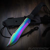 7pc Tactical Knife Set Aura Rainbow