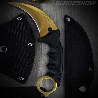 6pc Tactical Knife Set Gold