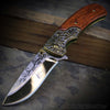 Western Cowboy Ornate | Pakkawood Spring Assisted Knife