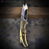 Spring assisted folding knife with golden blade