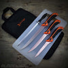 12pc Hunting / Camping / Survival Knife Set Orange