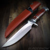Ornate Wood Fixed Blade Hunting Knife