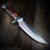 Engraved handle combat survival knife